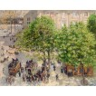 Place du Theatre Francais. Spring. Camille Pissarro