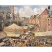 Fair in  Dieppe. Sunny Morning. By Camille Pissarro