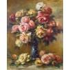 Roses in a Vase. By Pierre-Auguste Renoir