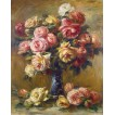 Roses in a Vase. By Pierre-Auguste Renoir
