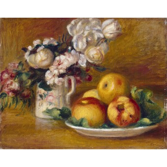 Apples and Flowers. By Pierre-Auguste Renoir