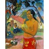 Woman Holding a Fruit. By Paul Gauguin