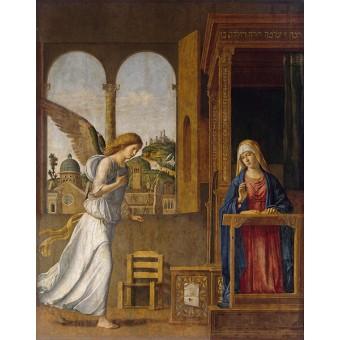 Annunsiation. By Giovanni Battista Cima da Conegliano