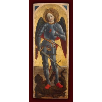 Archangel Michael (wing of a polyptych). By Vincenzo Foppa