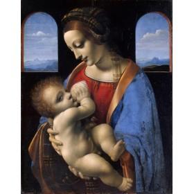 Madonna and Child (The Litta Madonna). By Leonardo da Vinci
