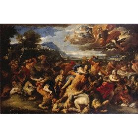 Battle Between the Lapith and Centaurs. By Luca Giordano