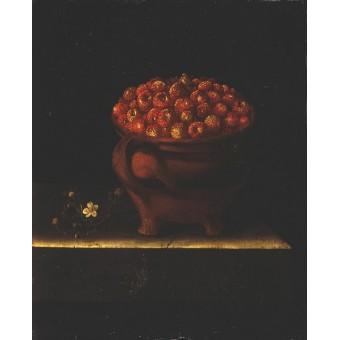 Clay with Wild Strawberries. By Adriaen Coorte