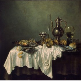 Breakfast with a Lobster. By Willem Claesz Heda
