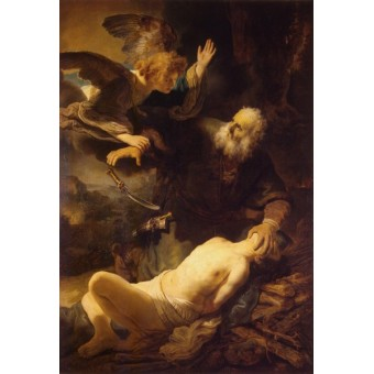 Sacrifice of Isaac. By Rembrandt Harmensz. van Rijn