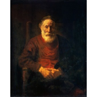 Portrait of an Old Man in Red. By Rembrandt Harmensz van Rijn