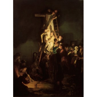 Descent from the Cross. By Rembrandt Harmensz van Rijn