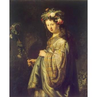 Flora. By Rembrandt Harmensz van Rijn
