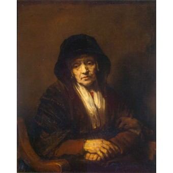 Portrait of an Old Woman. By Rembrandt Harmensz van Rijn