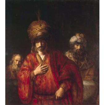 Haman Recognises his Fate. By Rembrandt Harmensz van Rijn