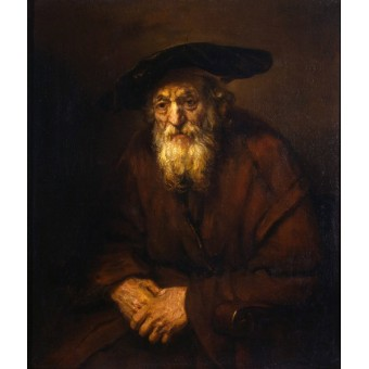 Portrait of an Old Jew. By Rembrandt Harmensz van Rijn