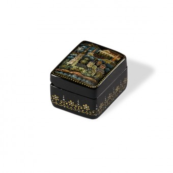 """Lacquer box """"Peter and Paul Fortress"""" Kholuy"""