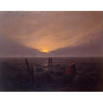 Moonrise over the Sea. By Caspar David Friedrich