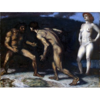 Fighting for a Woman. By Franz von Stuck