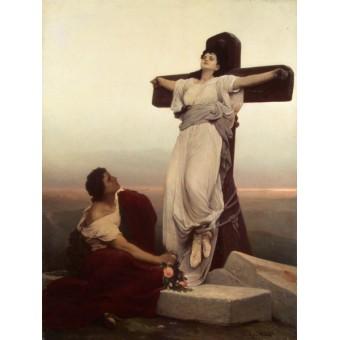 Christian Martyr on the Cross (St Julia). By Gabriel Cornelius von Max