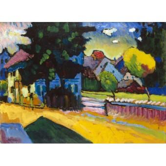 View of Murnau. By Wassily Kandinsky