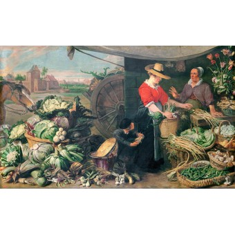 Greengrocery Stall. By Frans Snyders
