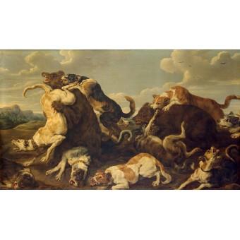 Bear Hunt. By Pauwel (Paul) de Vos