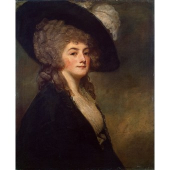 Portrait of Mrs Harrit Greer. By George Romney