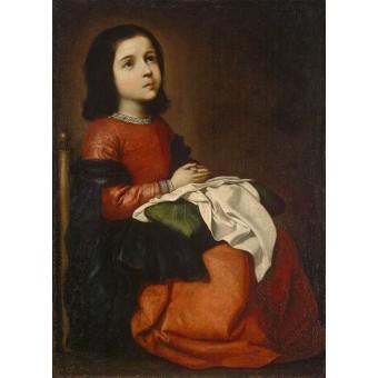 Childhood of the Virgin. By Francisco de Zurbaran