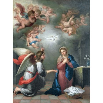 Annunciation. By Bartolome Esteban Murillo