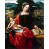 The Virgin and Child. By Master of the Female Half-Lengths