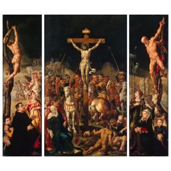 Calvary (Triptych). By Maarten van Heemskerck