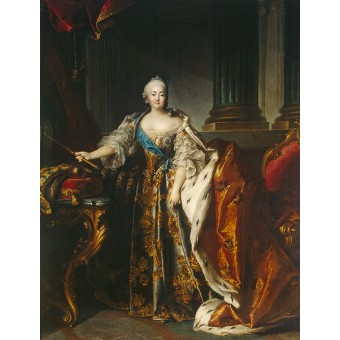Portrait of  Empress Elizabeth Petrovna. By Louis Tocque