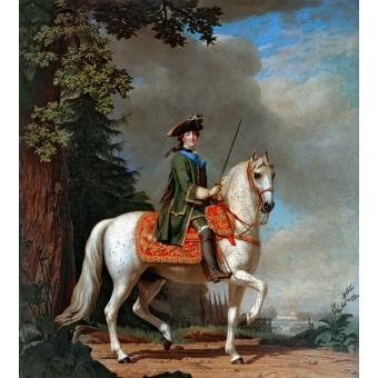Equestrian Portrait of Catherine II. By Virgilius Erichsen