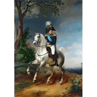 Equestrian Portrait of Alexander I. By Franz Kruger
