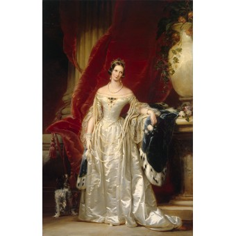 Portrait of Empress Alexandra Fyodorovna. By Christina Robertson