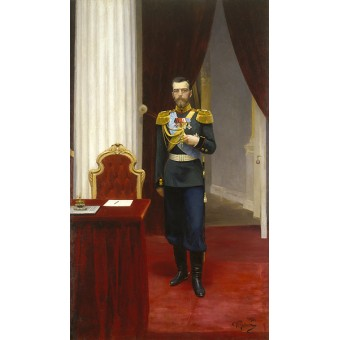 Portrait of Emperor Nicholas II. By Ilya Repin