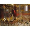 The Coronation of Emperor Nicholas II and Empress Alexandra Fiodorovna. By Laurits Tuxen