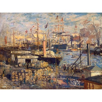 The Grand Quai at Havre. By Claude Monet