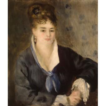 Woman in Black. By Pierre-Auguste Renoir