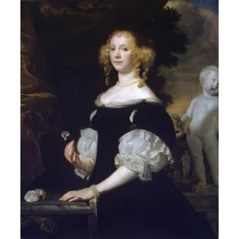 Portrait of a Young Woman. Abraham van den Tempel