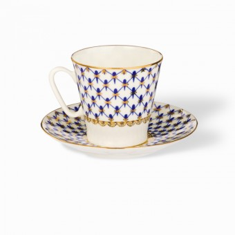 Black Coffee Cup and Saucer Set