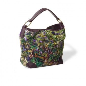 "Bag ""Fulvia"" Decorated with ""Lilac Bush"" by Vincent van Gogh"