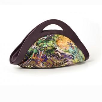 "Bag ""Ventaglio"" Decorated with ""Lilac Bush"" by Vincent van Gogh"