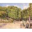 Town Park in Pontoise. By Camille Pissarro