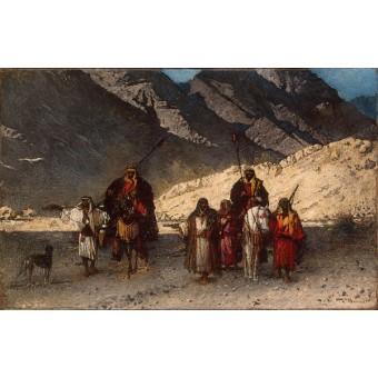 Arabian Sheikhs in the Mountains. By Leon Joseph Florentin Bonnat
