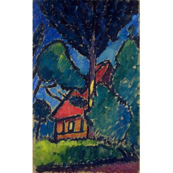 Landscape with a Red Roof. By Alexej von Jawlensky