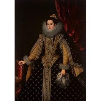 Portrait of Margarita Aldobrandini, Duchess of Parma. Bartolome Gonzalez