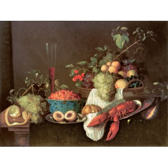 Grapes in a Basket. By Pieter de Ring