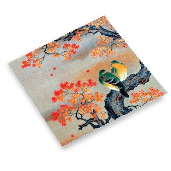 "Cloth for Glasses ""Birds on a Maple Branch (Autumn)"""