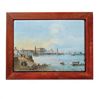 "Framed Plaque ""View of the Spit of Vasilyevsky Island"""
